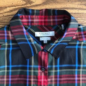 FOXCROFT for Appleseeds Stewart Plaid Button Up